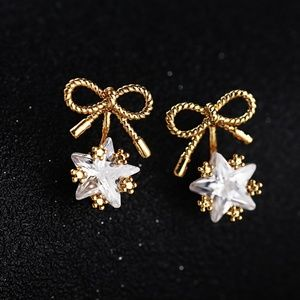Simple Style Hand Made Cubic Zirconia Earring